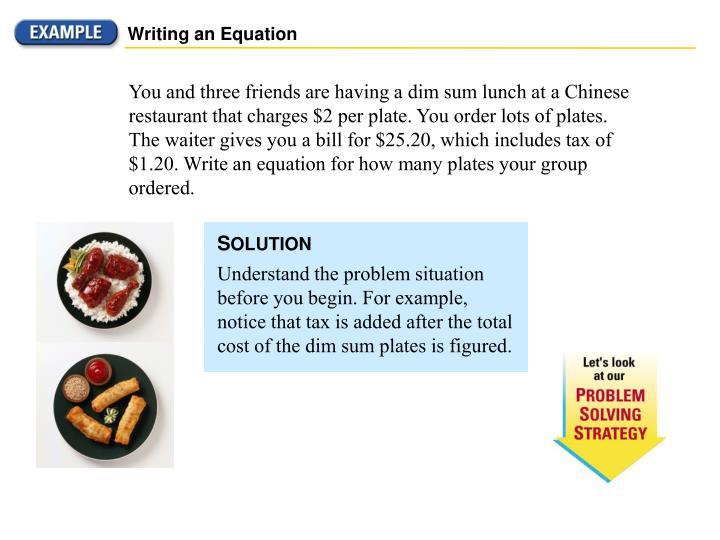 Writing an Equation