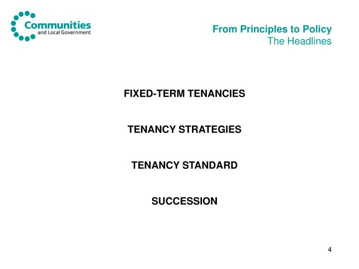 From Principles to Policy