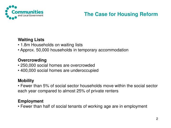 The case for housing reform
