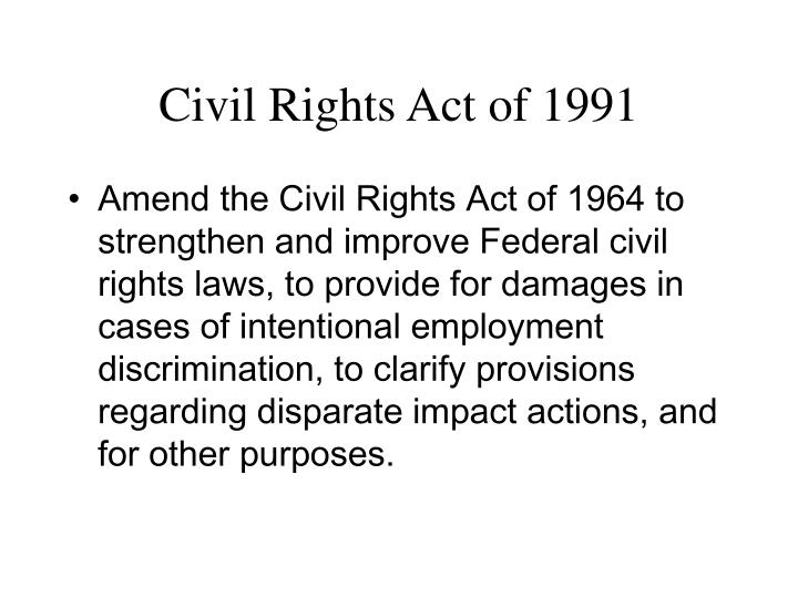 Civil Rights Act of 1991