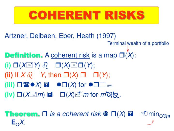 COHERENT RISKS