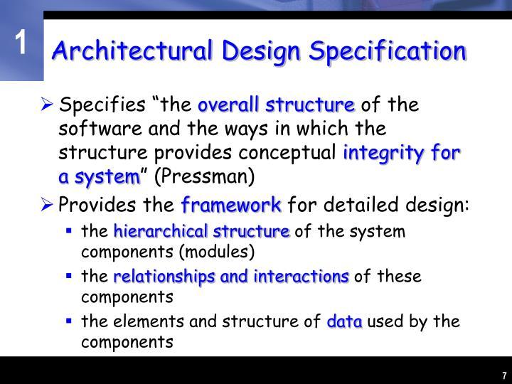 Architectural Design Specification