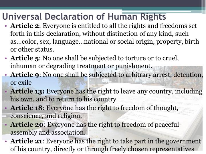 an analysis of the universal declaration of human rights The adoption of the universal declaration of human rights roosevelt's speech was a persuasive speech it informs the audience and persuades people into wanting to adopt basic human rights.