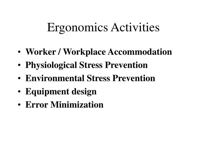 Ergonomics Activities