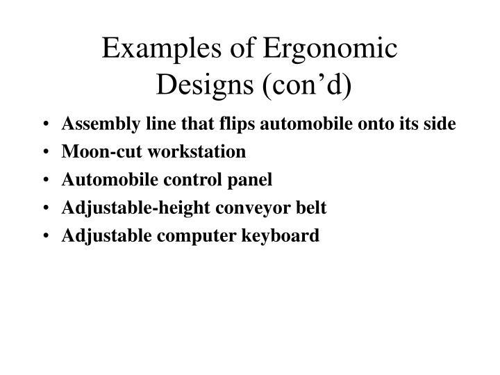 Examples of Ergonomic