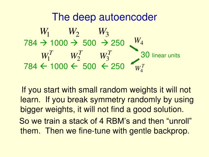 The deep autoencoder