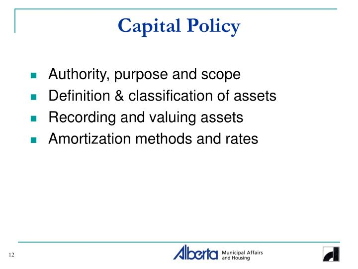 Capital Policy