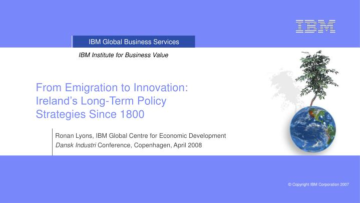 From Emigration to Innovation: