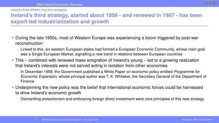 Ireland's three different long-term strategies