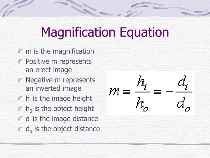 Magnification Equation