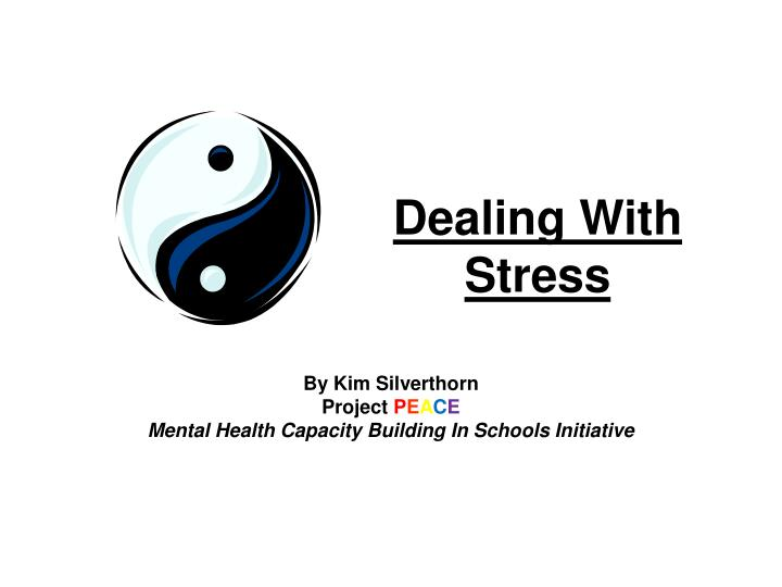 dealing with stress n.