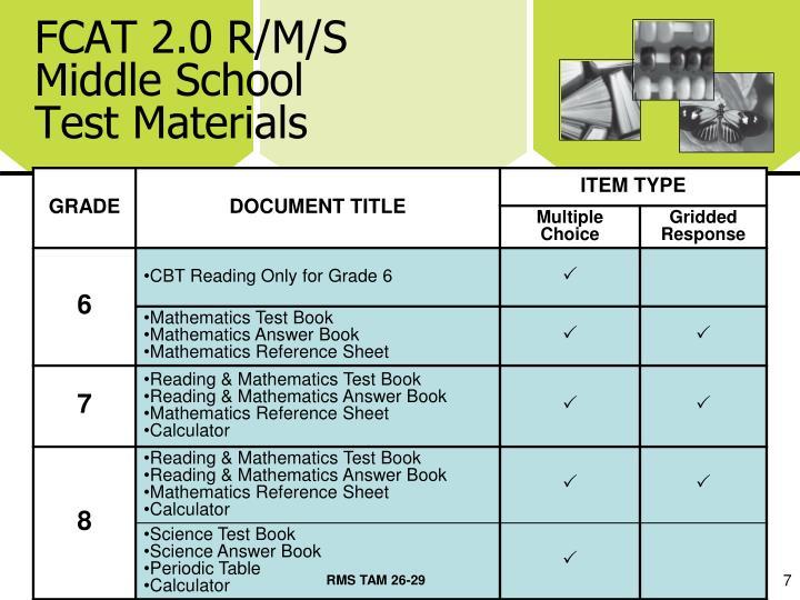 FCAT 2.0 R/M/S