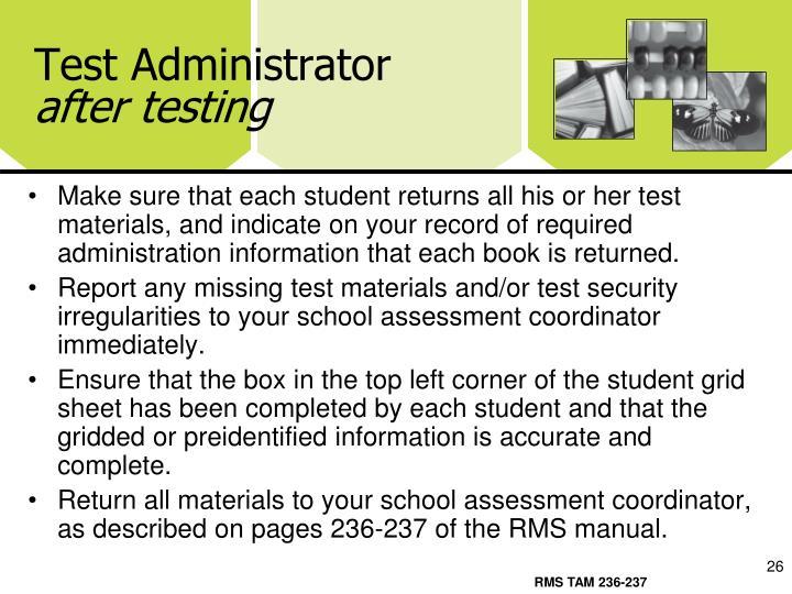 Test Administrator
