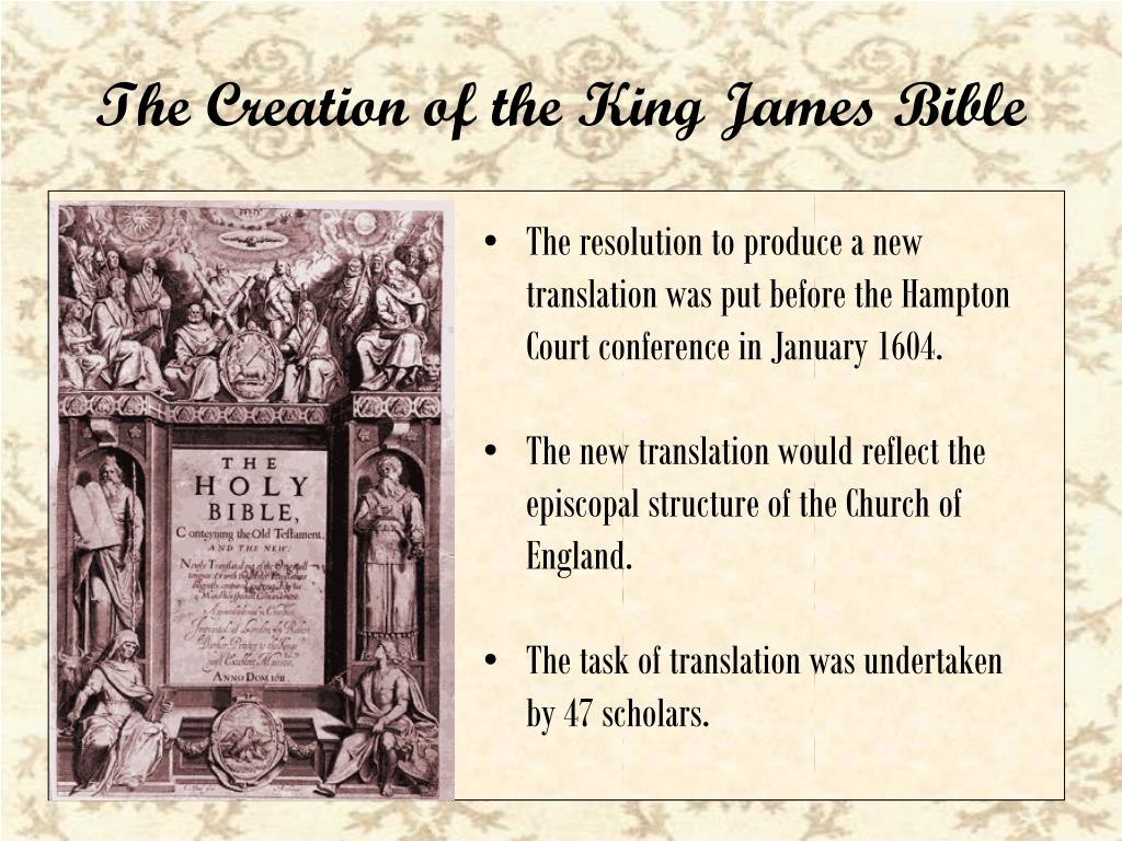 PPT - King James ' Bible PowerPoint Presentation - ID:1792939