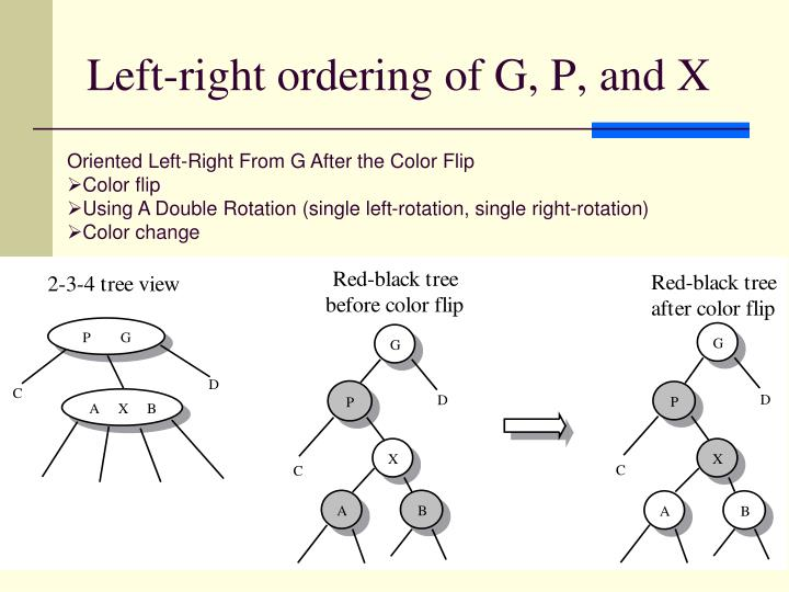 Left-right ordering of G, P, and X