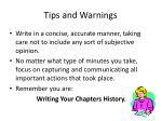 tips and warnings