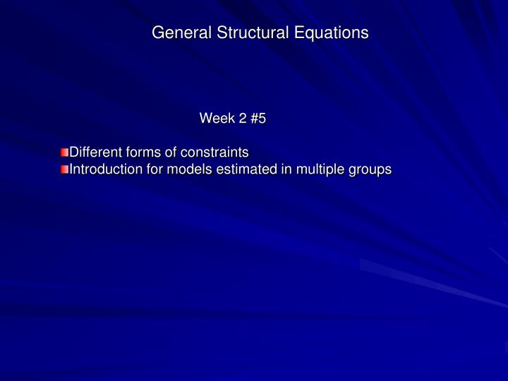 introduction to structural equation modeling Introduction structural equation modeling 1 family science review, 11, 354-373 an introduction to structural equation modeling1 jj hox university of amsterdam/utrecht university.