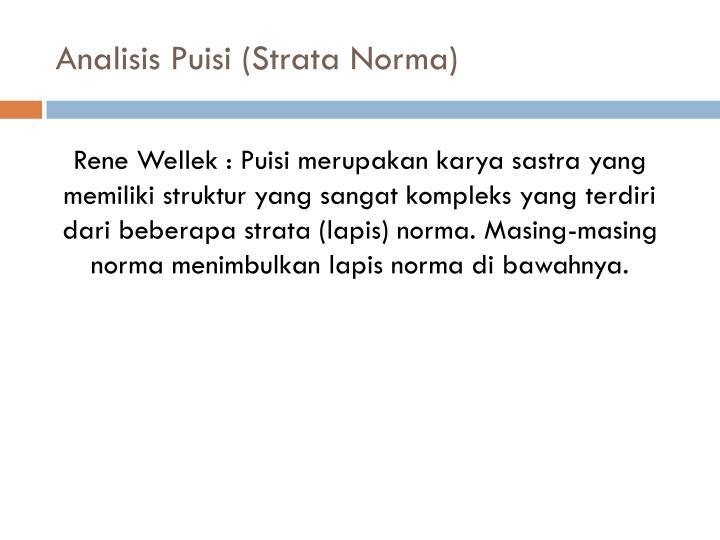 Analisis Puisi (Strata Norma)