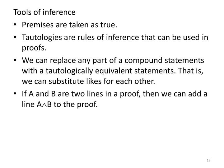 Tools of inference