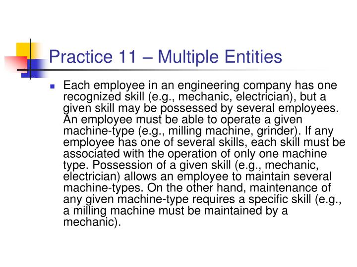 Practice 11 – Multiple Entities