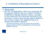 ii conditions of equivalence cont d3