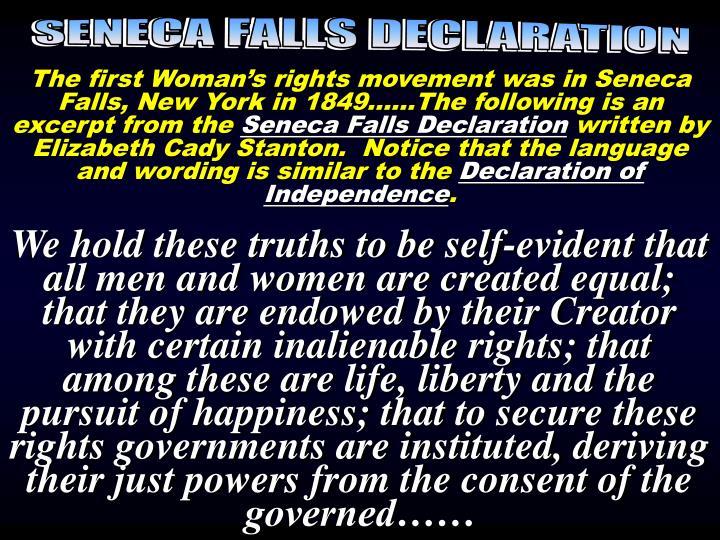 Seneca Falls Declaration