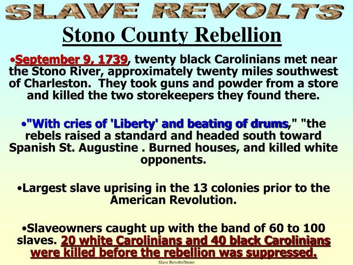 Slave Revolts/Stono