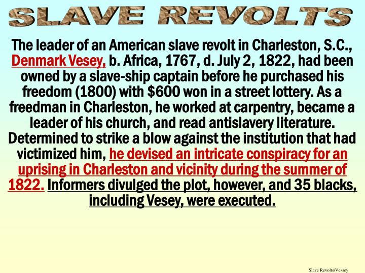 Slave Revolts/Vessey