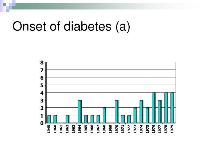 Onset of diabetes (a)