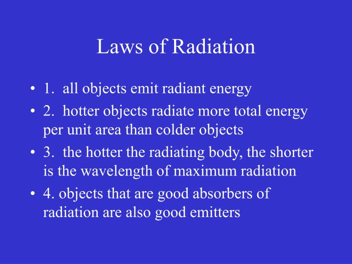 Laws of Radiation