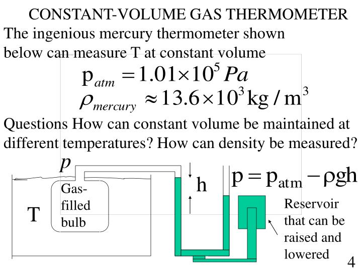 CONSTANT-VOLUME GAS THERMOMETER