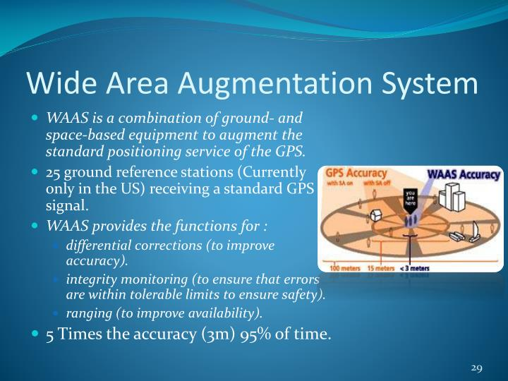 an introduction to wide area augmentation system waas Wide area augmentation system waas is an extremely accurate navigation  system developed for civil aviation before waas, the us.