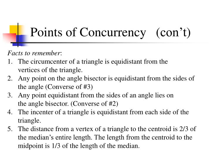 Points of Concurrency   (