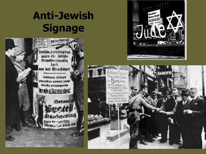 Anti-Jewish Signage