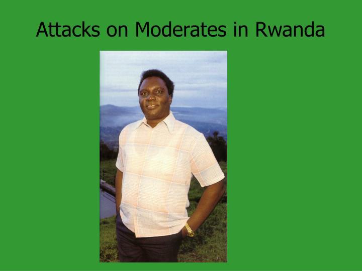 Attacks on Moderates in Rwanda
