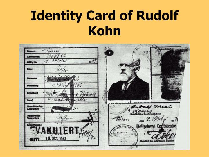 Identity Card of Rudolf Kohn