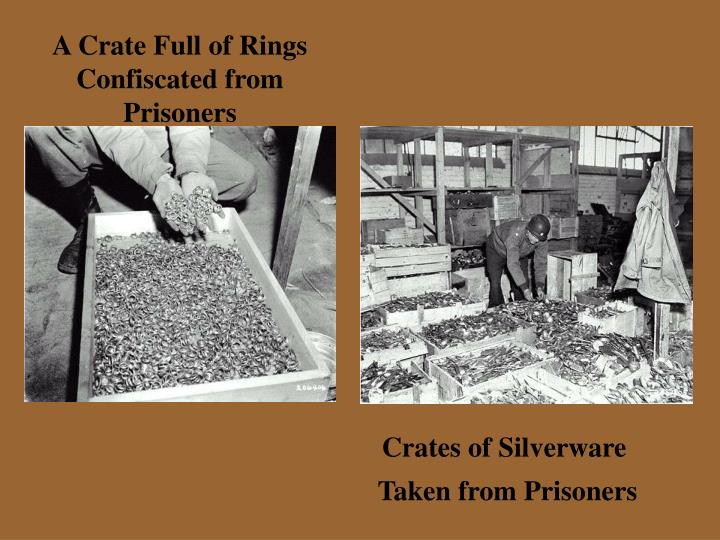 A Crate Full of Rings Confiscated from Prisoners