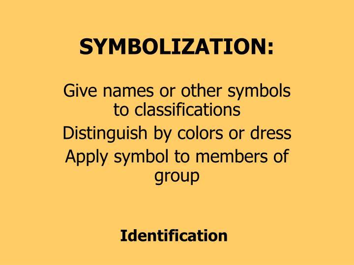 SYMBOLIZATION: