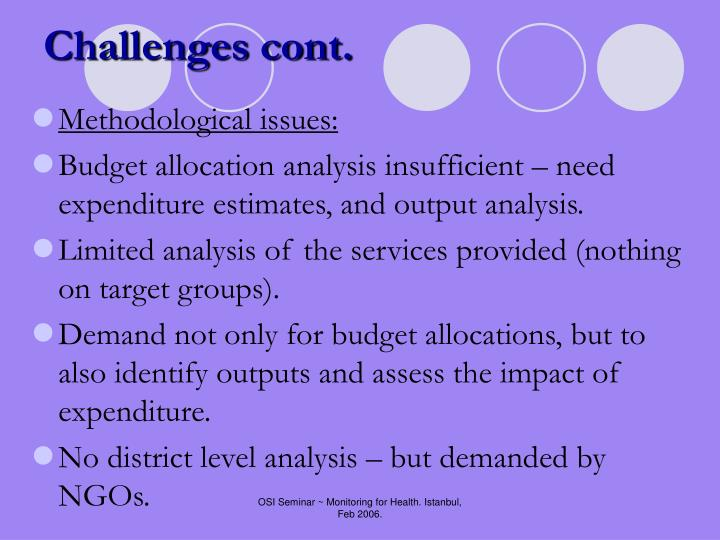Challenges cont.