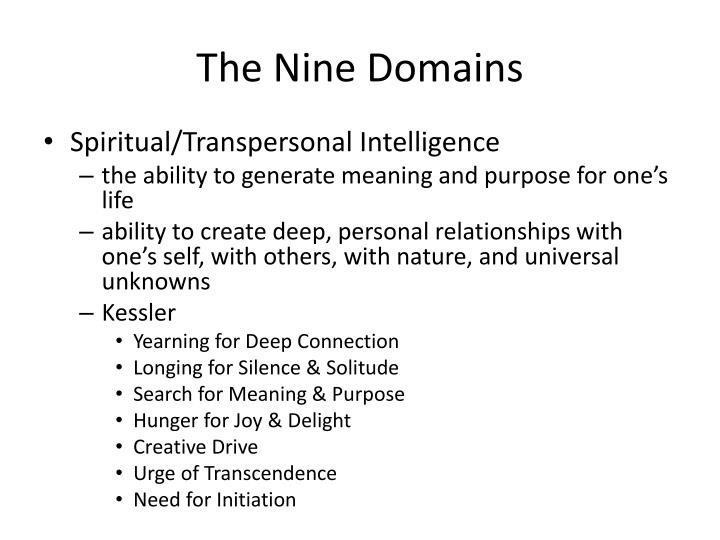 The Nine Domains