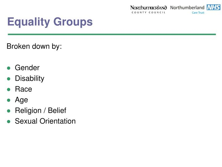 Equality Groups