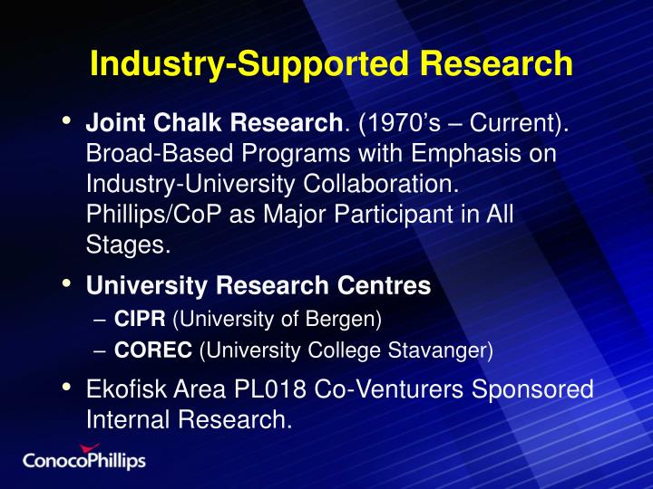 Industry-Supported Research