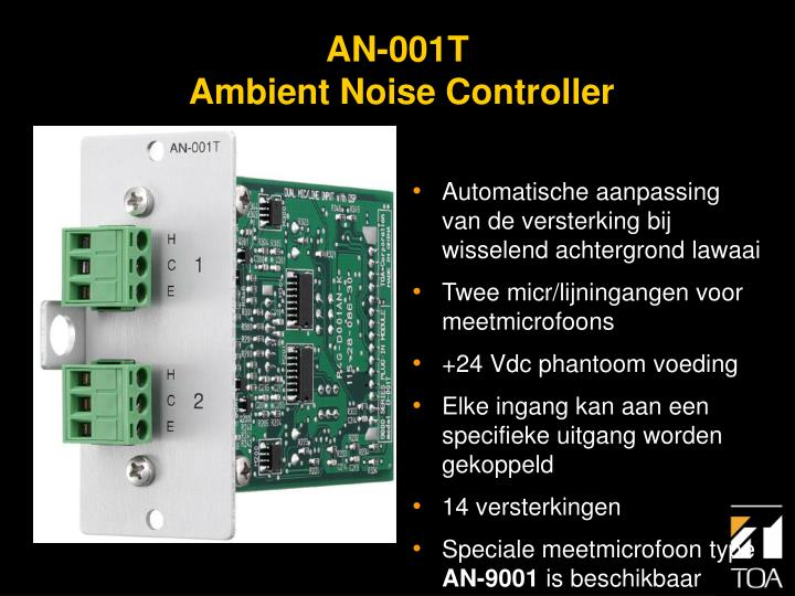 Automatische aanpassing van de versterking bij wisselend achtergrond lawaai