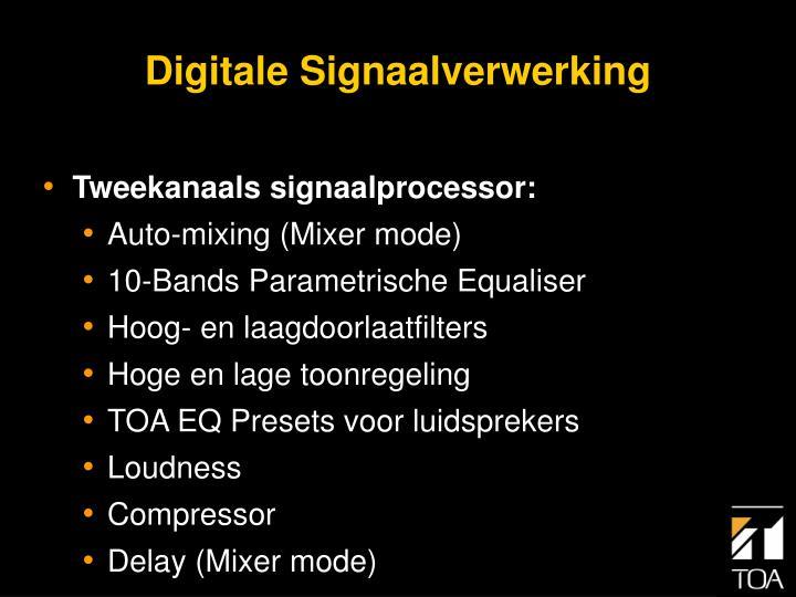 Digitale signaalverwerking