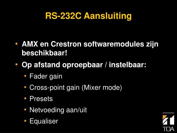 RS-232C Aansluiting