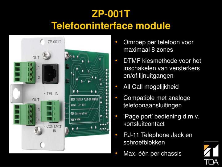 Omroep per telefoon voor maximaal 8 zones