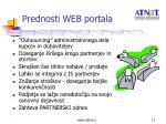 prednosti web portala
