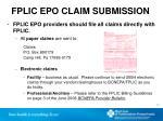 fplic epo claim submission