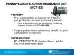 pennsylvania s autism insurance act act 621