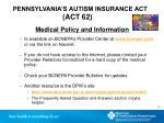 pennsylvania s autism insurance act act 622